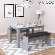 Vicco Tischgruppe Beton Sitzgruppe Essgruppe Real