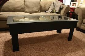 permalink to dark wood coffee table with storage