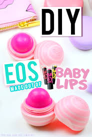 diy maybelline baby lips into eos lip balm containers tutorial
