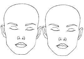 Blank Face Templates Awesome Blank Face Template Paint World Within Female Outline azserver