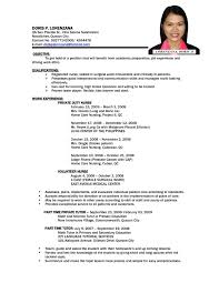 Simple Resume Sample Filipino Listmachinepro Com