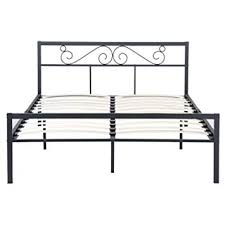 Amazon.com: GreenForest Queen Bed Frame with Wooden Slats Support ...