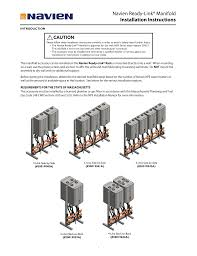 navien venting chart commercial rack manifold installation instructions 1