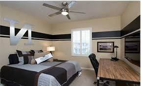 Storage Mid Sized Eclectic Master Bedroom With Dark Hardwood - Guys bedroom decor