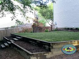 landscape timbers retaining wall timber retaining wall installing landscape tie retaining wall