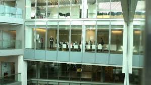 group contemporary office. 4k / Ultra HD Version Time Lapse Of Busy Business Group Working In Contemporary Office Building L