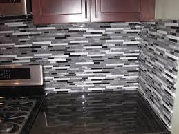 Interior Design Glass Tile Backsplash Pictures Kitchen With Black Tiles  Backsplashes Rectangle Grey Installation The Wall