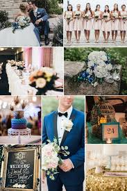 Dusty blue pink gold classic wedding ideas Color Palette Blush Navy Peacock And Gold Color Palette 2018 Wedding Color Palettes To Inspire Davids Bridal 2018 Wedding Color Palettes To Inspire Your Big Day Kennedy Blue