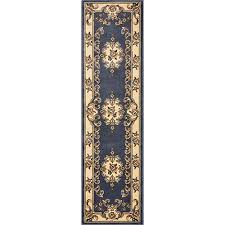 kas oriental rugs corinthian blue aubusson runner 2 ft 2 in x 7 ft 11 in rug