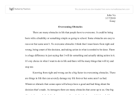 overcoming obstacles essay overcoming challenges essay org view larger