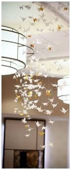 wedding centerpiece party decorations origami crane chandelier unique wedding reception decor wedding