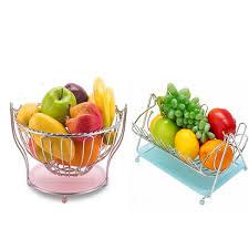 new kitchen craft fruit vegetable storage baskets holder rack metal stand chrome