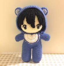 Amigurumi Doll Patterns Awesome 48PATTERN PACK Baby In Bear Onesie Amigurumi Doll 48 Chibi Doll