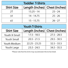 Youth Shirt Size Conversion T Shirts Design Concept
