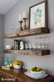 Floating Shelves In Dining Room Dining Room Storage With Floating Shelves Dining room storage 2