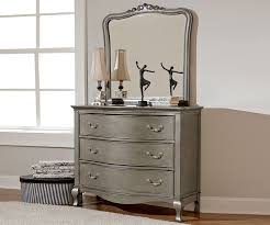 Silver Finish Bedroom Furniture Kensington Silver Finish Three Drawer  Dresser Ne Kids And Furniture Of America