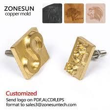 senarai harga zonesun custom logo hot foil stamping brass mold wood leather paper embossing mold plate diy design terbaru di malaysia