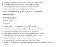 Sonographer Resume Top Free Resume Samples Writing Guides For