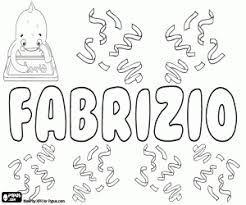 Kleurplaat Fabrizio Italiaanse Naam Kleurplaten