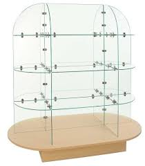 In Store Display Stands Glass Oval Display Unit Glass Display Stand Store Display Glass 57