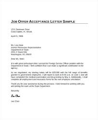 Decline Offer Letter Sample Accept A Job Offer Co Letter Acceptance Reply Samples Thank