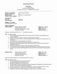 48 Beautiful Stock Of Federal Resume Samples Resume Designs