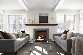 cozy living room with fireplace. 10 Accessories Every Living Room Should Have : Cozy Fireplace With Hide Tv Above