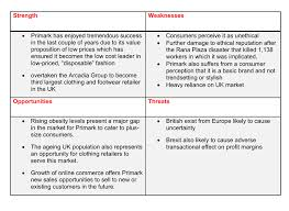 pestle and swot analysis of primark  primark swot analysis 2016 2017