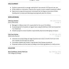 Childcare Resume For Child Care Template Daycare Cv Uk