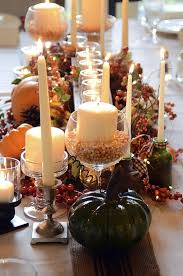 fall dining room table centerpieces
