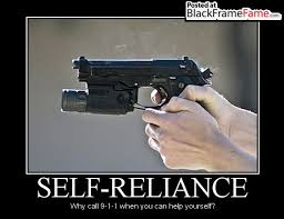 SELF-RELIANCE | Demotivational Poster Memes- Black Frame Fame via Relatably.com