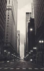 android wallpaper black and white. Chicago USA Black And White Streetview Android Wallpaper