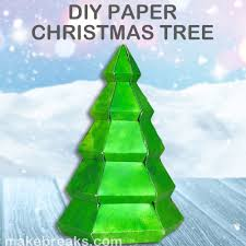 Tutorial Make A Paper Christmas Tree With Free Template