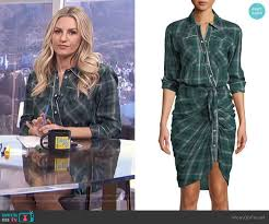sierra shirtdress by veronica beard worn by morgan stewart morgan stewart on e