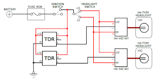 h4 halogen headlight wiring diagram automotive time delay relay applications dual h4 headlight diagram