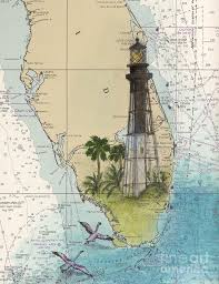 Hillsboro Inlet Lighthouse Fl Cathy Peek Nautical Chart