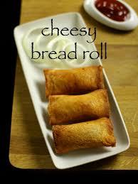 Cheesy Bread Roll Recipe Veg Stuffed Bread Roll Recipe
