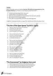 Australian Poetry Analytical Essay Year 11 Qce English