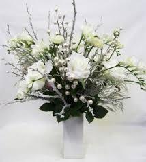 White silk flower arrangements