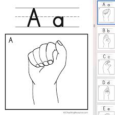 Wall Chart A B C D Fingerspell