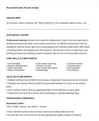 Cashier Experience Resume Best Resume 2 Images On Cashier