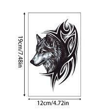 2ks Wolf Head Odnímatelné Fake Tetování Wolf Tetování Samolepka Wolf King Body Art Dočasné Tetování At Vova