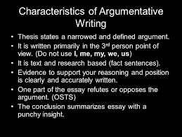 argumentative writing ppt video online  15 characteristics of argumentative writing