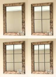 window mirror wall decor wall decor nice window mirror wall decor windowpane mirror wall with rustic