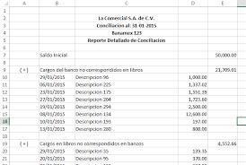 Conciliacin Bancaria Conciliacion Bancaria En Excel Formulas Excel