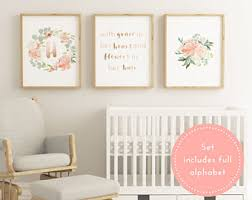 >jessica pepin on etsy printable blush baby girl nursery decor large nursery decor blush nursery wall art