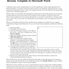 Microsoft Word Resume Wizard Free Download Resume Ideas Namanasa Com