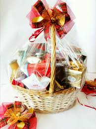 merry traditional gift basket