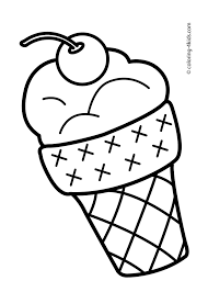 Print off these free printable ice cream coloring pages for a summer rainy day or birthday party activity! Ice Cream Coloring Pages Unique Ice Cream Cone Coloring Page Summer Coloring Pages Easy Coloring Pages Cool Coloring Pages