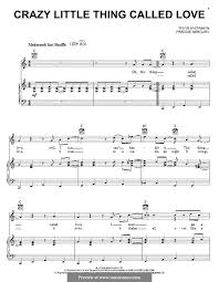 crazy little thing called love sheet music crazy little thing called love queen by freddie mercury on musicaneo